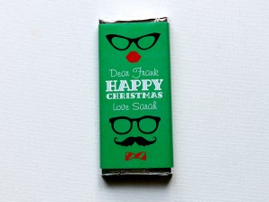 Personalised Chocolate Bars – Hipster Christmas