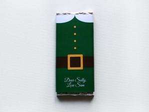 Personalised Chocolate Bars – Elf Suit