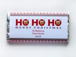 Personalised Chocolate Bars – Ho Ho Ho